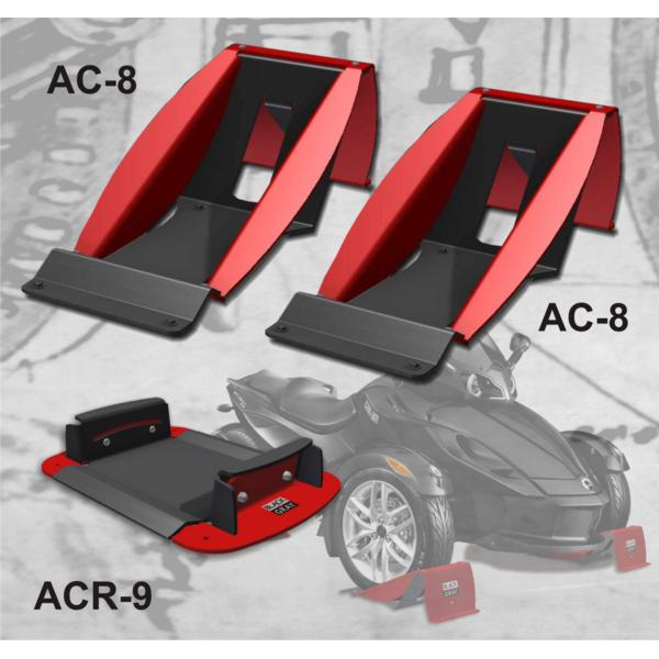 Spyder Transport Kit - Front and rear aluminum wheel chocks