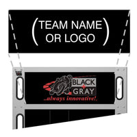 Team Header Card -blank for custom graphics for BLACK+GRAY Pit Boards
