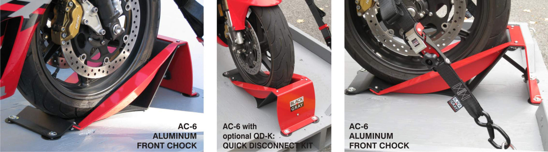 Lightweight Aluminum Motorcycle Wheel Chocks