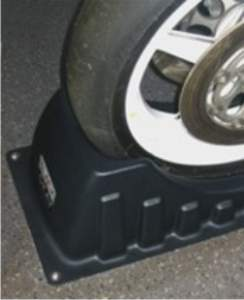front wheel in plastic wheel chock