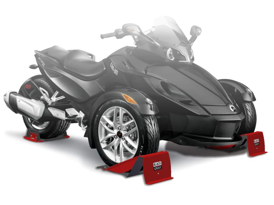 Can-Am Spyder front and rear wheel chocks
