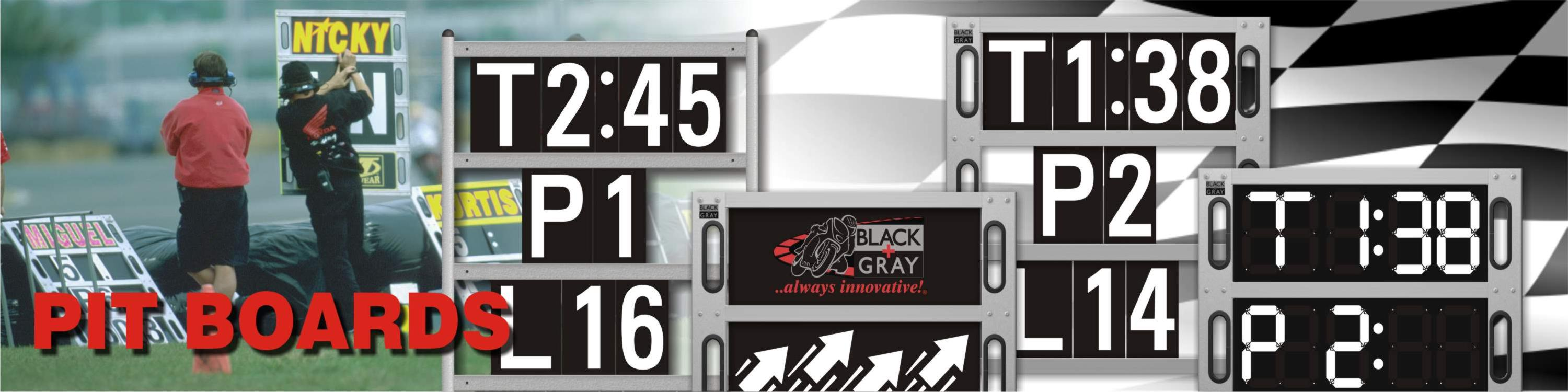 Pit Boards for Motorcycle Racing