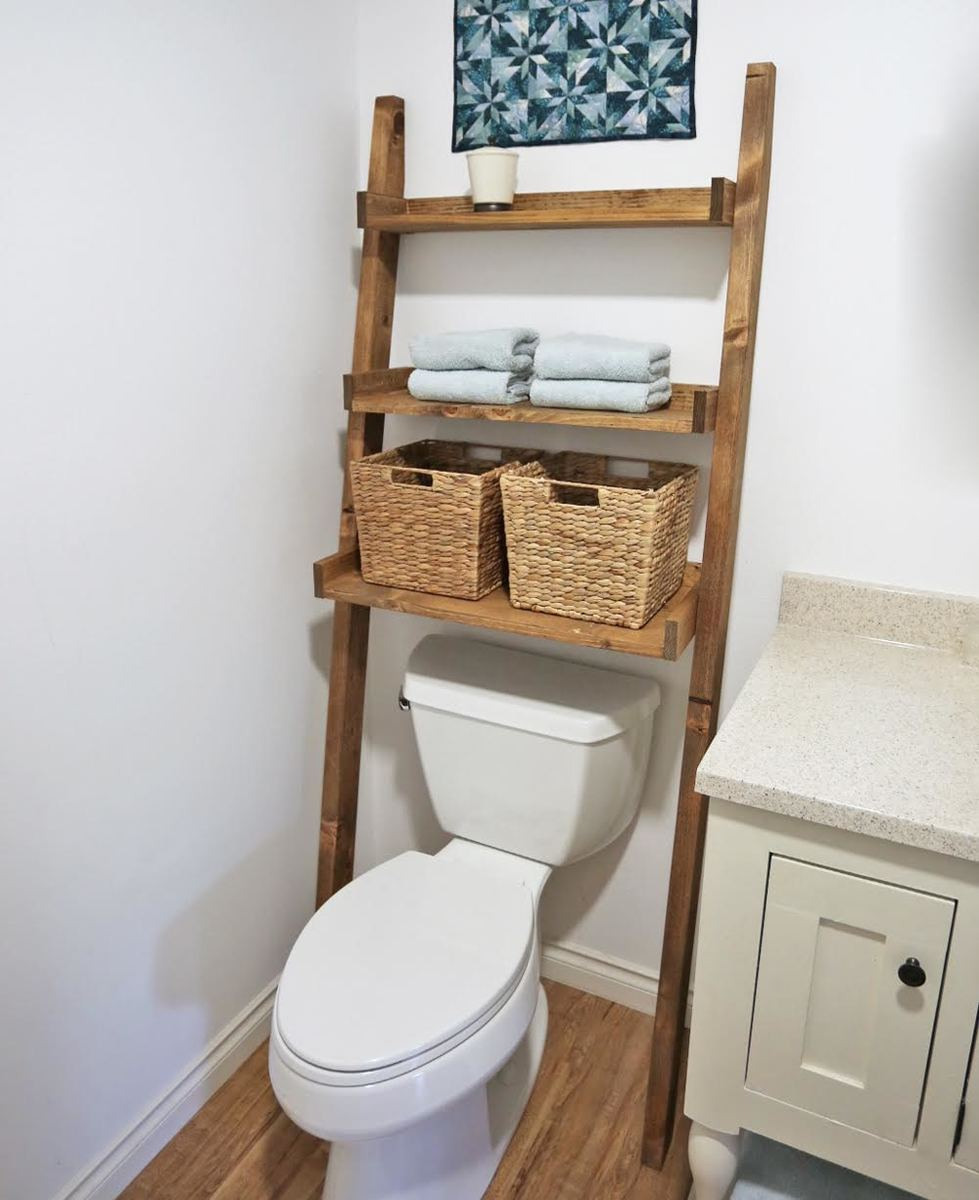 Bathroom Ladder Shelf