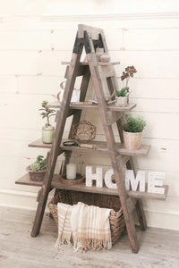 Ladder Sawhorse Bookcase