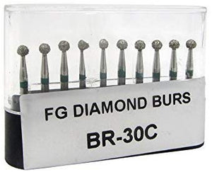 "Diamond Burs Drill Set BR-30C (50 pcs) 1/16"" shank"