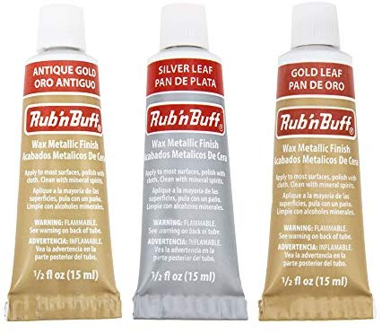 Rub-N-Buff 3 Color Assortment (Silver Leaf, Antique Gold, Gold Leaf)
