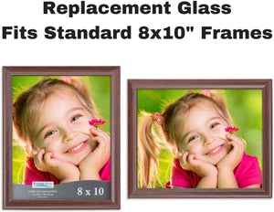 Icona Bay 8x10 Picture Frame Glass (2 Pack)