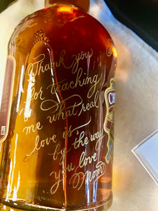 Hand Engraved Holiday Bottles