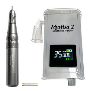 "Pink Mystisa Engraving System w/ Handpiece & 3/32"" Chuck, Reducing sleeve, Burs, Modern Engraving E-Book"