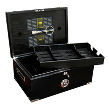 Load image into Gallery viewer, The Dakota Black Humidor with Scissors by Prestige Import Group - Mariano Shop