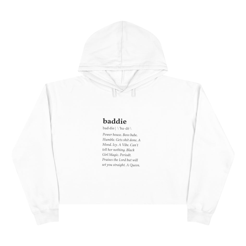 Baddie/Black Girl Magic Crop Hoodie