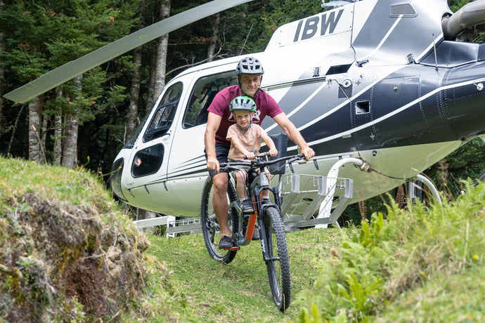 Heli-Biking with Kids in New Zealand