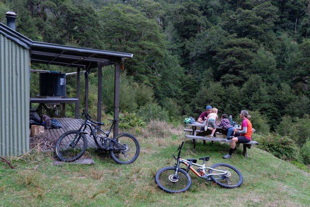 Snack time at the Moerangi Hut