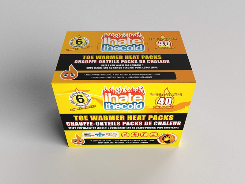 iHateTheCold 40 Pairs Disposable Toe Warmers - ihatethecold.com