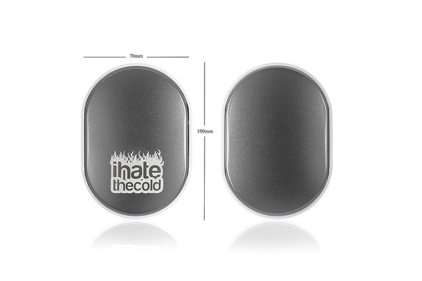 iHateTheCold Rechargeable Wish Stone Hand Warmer - Mobile Power Bank (Grey) - ihatethecold.com