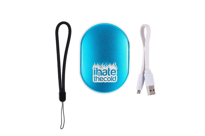 iHateTheCold Rechargeable Wish Stone Hand Warmer - Mobile Power Bank (Blue) - ihatethecold.com