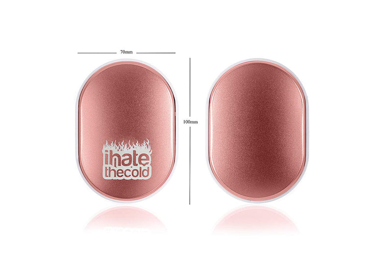 iHateTheCold Rechargeable Wish Stone Hand Warmer - Mobile Power Bank (Rose Gold) - ihatethecold.com