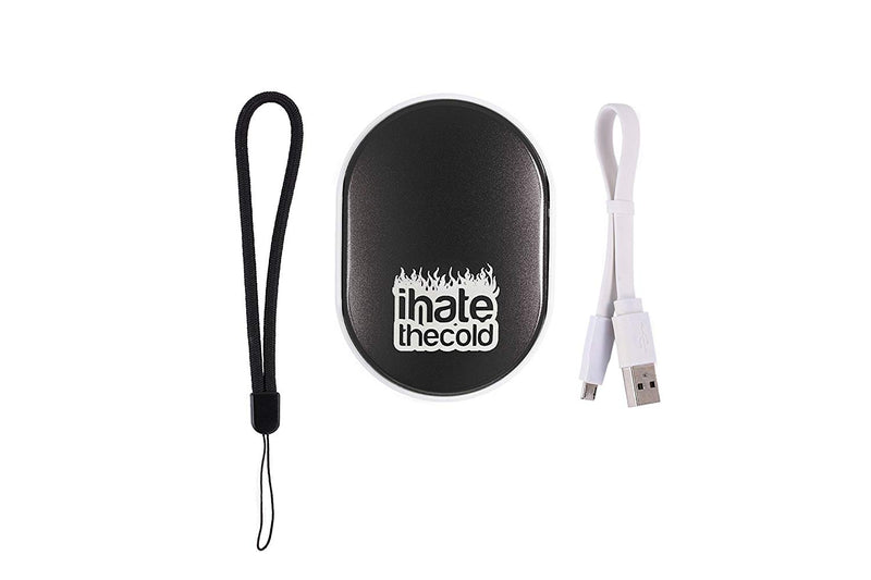 iHateTheCold Rechargeable Wish Stone Hand Warmer - Mobile Power Bank (Black) - ihatethecold.com