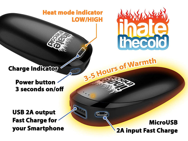 iHateTheCold Perfect Hand Warmer - Black - ihatethecold.com