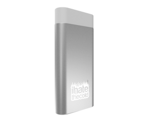 iHateTheCold Micro Hand Warmers - 2000mAh Power Bank Portable Charger (Silver) - ihatethecold.com