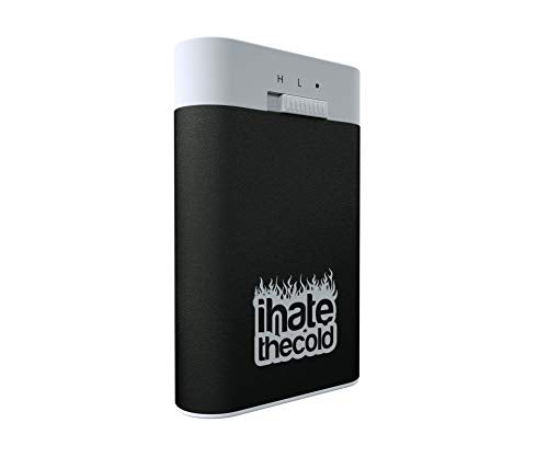 Rechargeable Reusable Midi Black 7800mAh USB Hand Warmer and Power Bank - ihatethecold.com