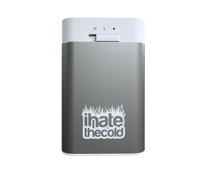 Rechargeable Reusable Mini Grey 5200mAh USB Hand Warmer - ihatethecold.com