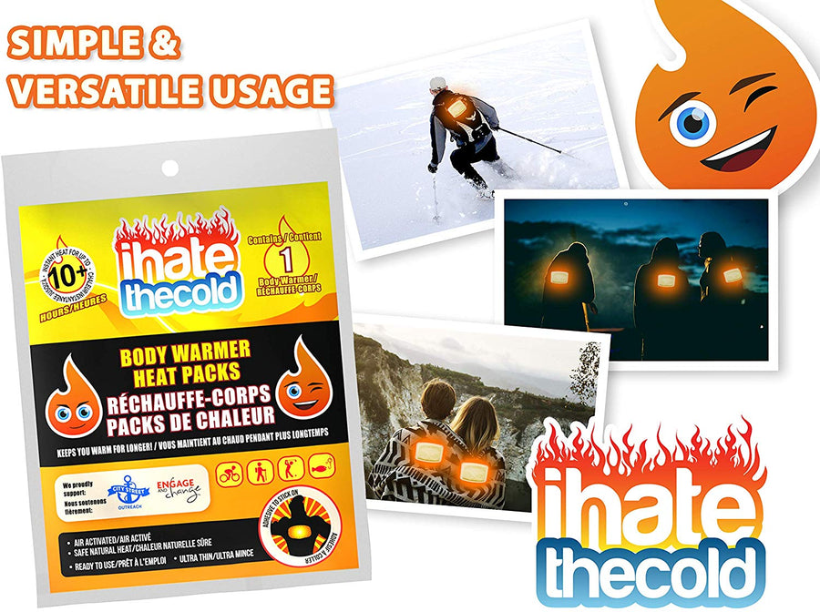 iHateTheCold 50 Disposable Body Warmers - ihatethecold.com