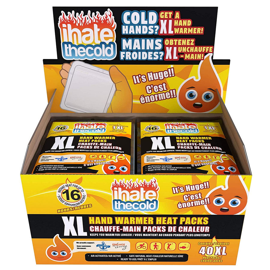 iHateTheCold Extra Large XL Disposable Hand Warmers - ihatethecold.com
