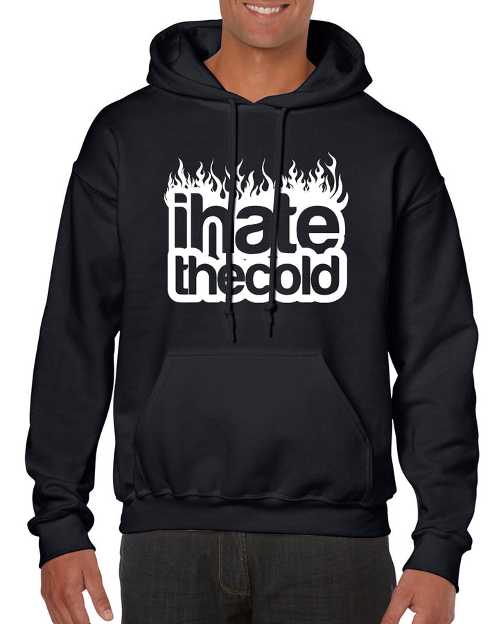 iHateTheCold Heavy Cotton Blend Hoodie - Black - ihatethecold.com