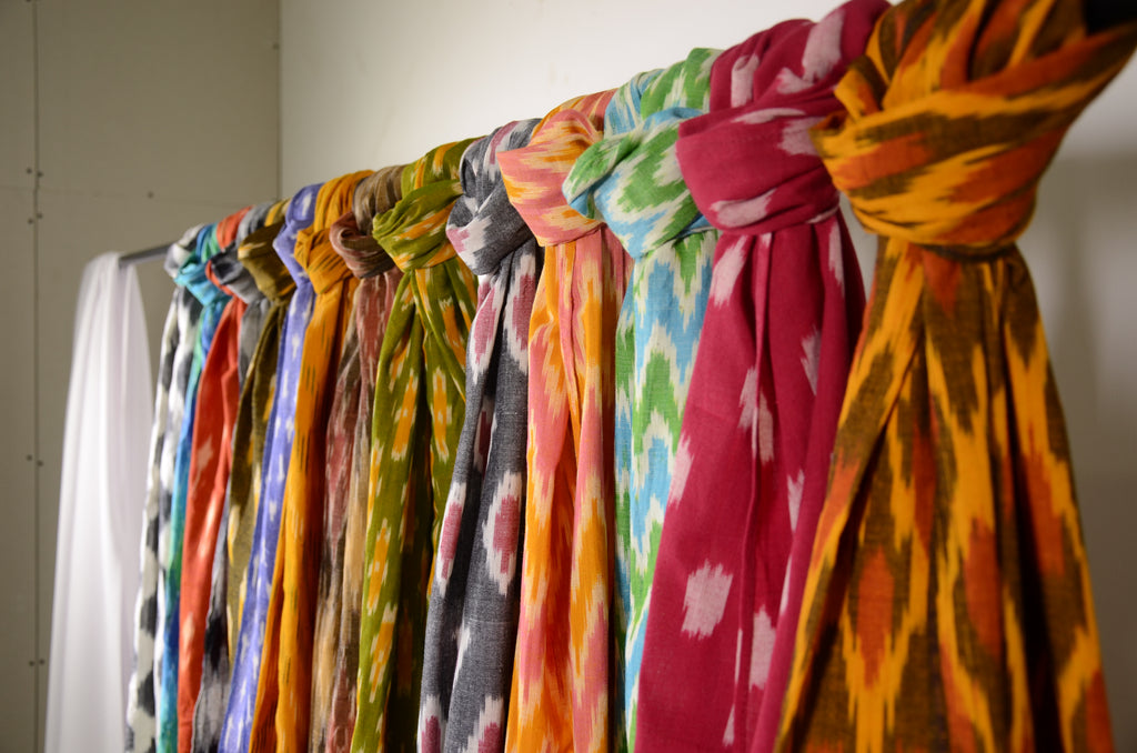 Ikat fabrics from Indian Weavers