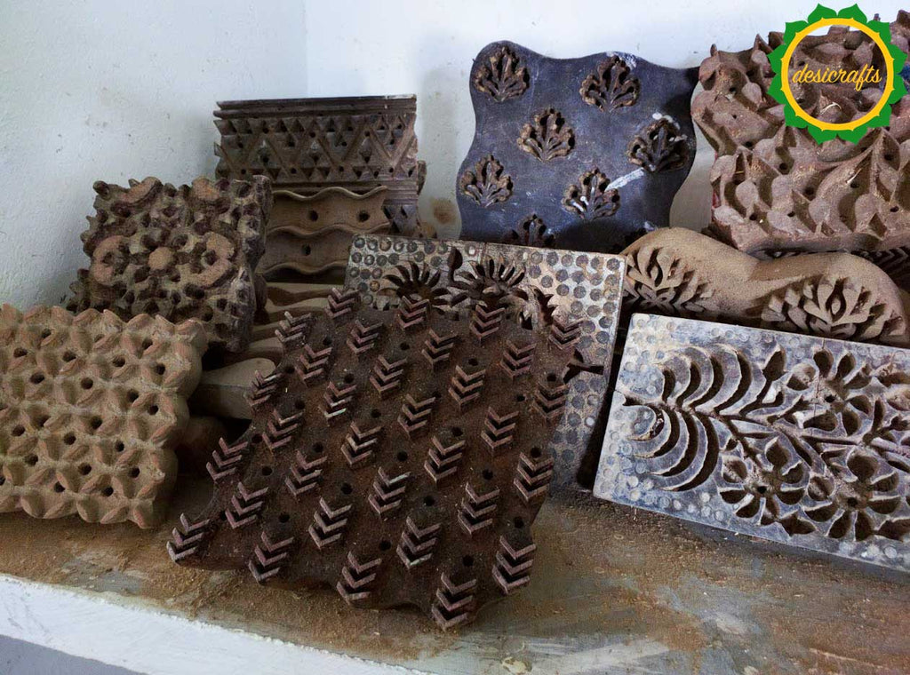 Wooden block printing in Rajasthan