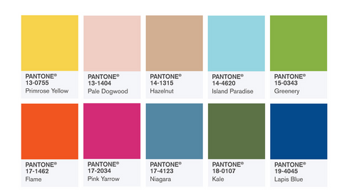 Panton Color Institute Color Trends for 2017