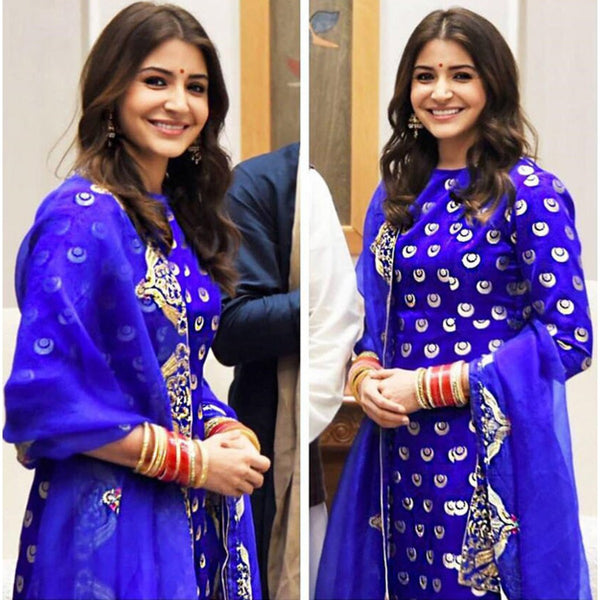 Anushka Sharma at her wedding reception