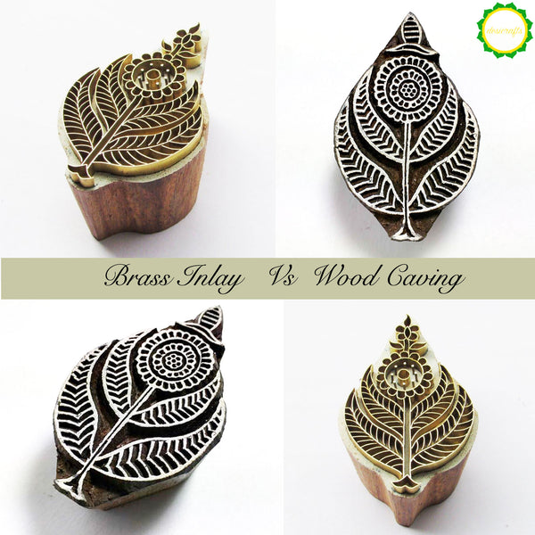 How different is brass inlay work from the wood carving yet both methods are used to make beautiful wooden stamps