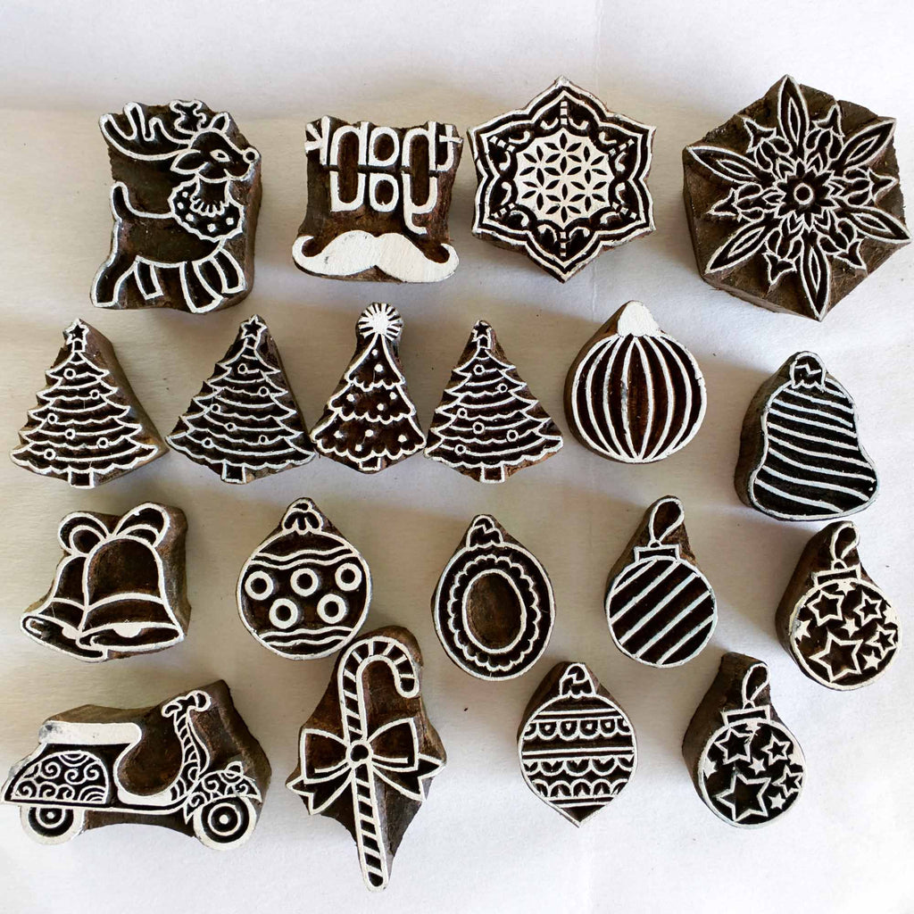 Wooden Stamps for fabric printing and paper printing