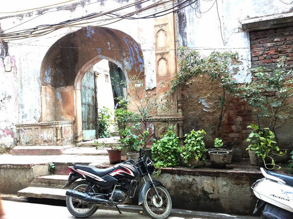 Ruins of the buildings in chandni chowk