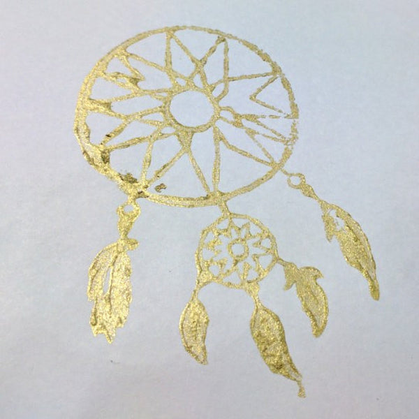dreamcatcher gold block print