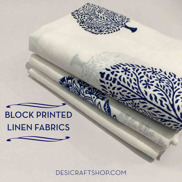 New Arrivals at DesiCrafts- Linen Block Prints