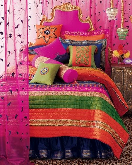 Pillow covers and cushions using vintage silk saris