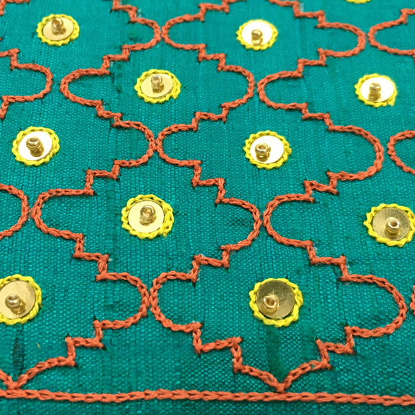 Sea Green Moroccan Embroidery