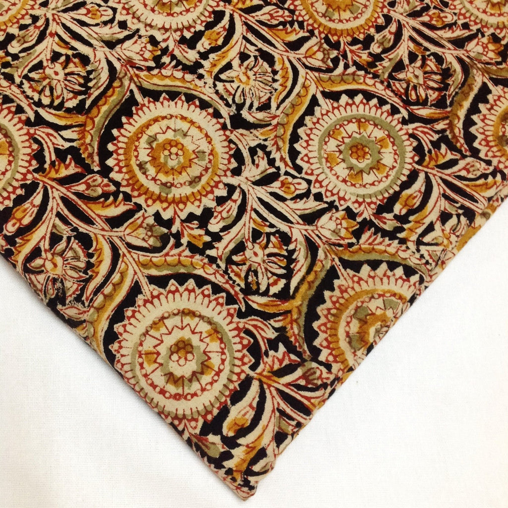 Vegetable Dyed Handmade Kalamkari Cotton Fabric