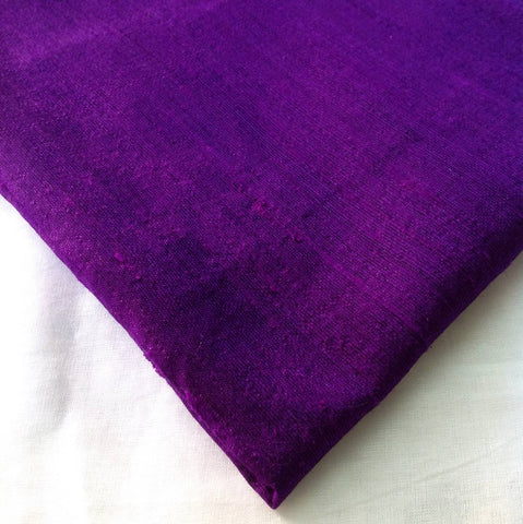 Purple Dupioni Silk - Raw Silk from India