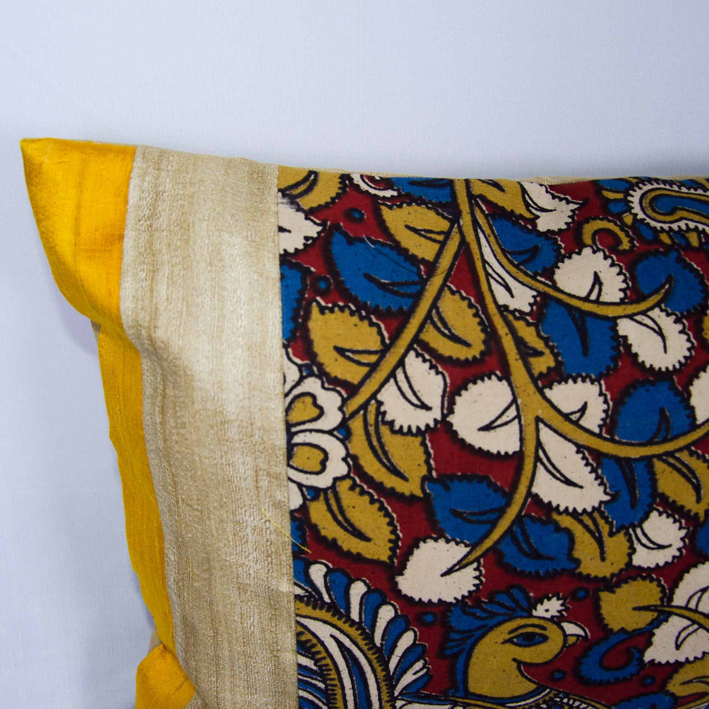 Tussar Kalamkari Cushion Cover Buy Online From India