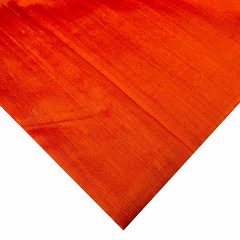 Orange pure raw silk buy online from India
