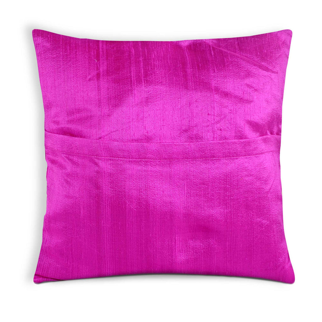 Hot pink dupioni silk cushion cover