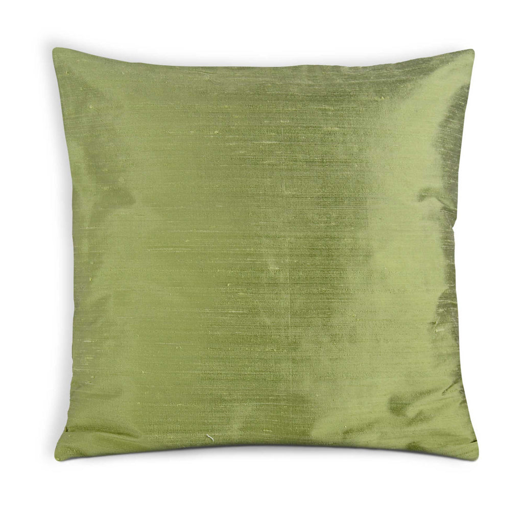 pistachio raw silk pillow cover