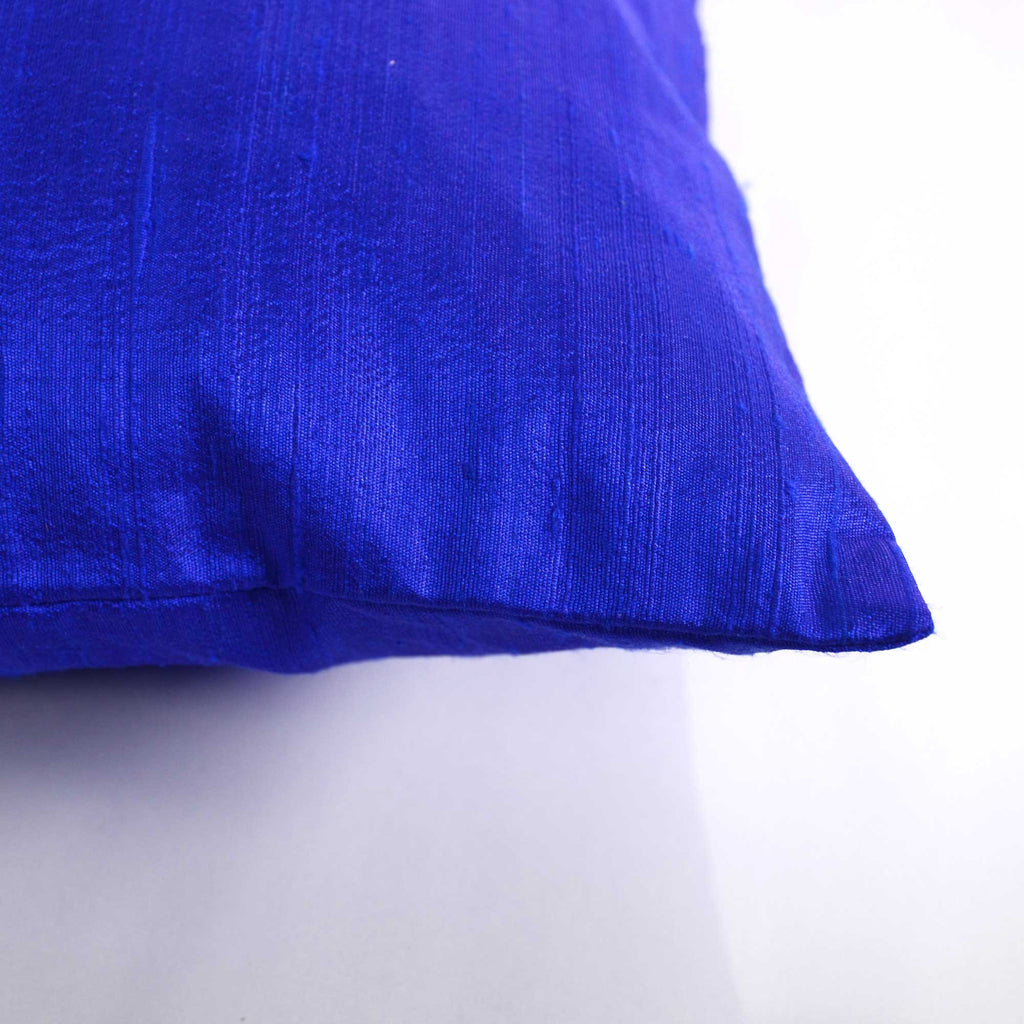 blue silk cushion cover from India