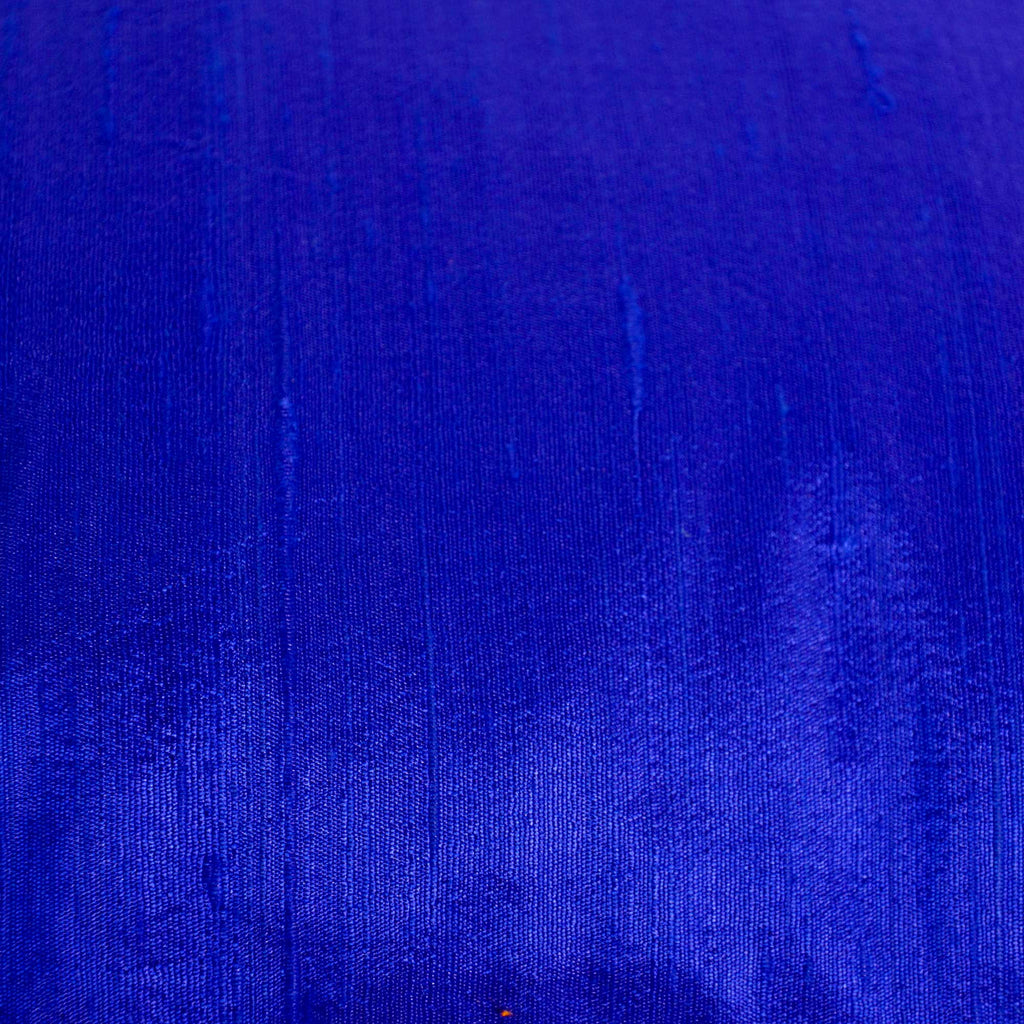 Raw Silk Pillow Cover in Royal Blue