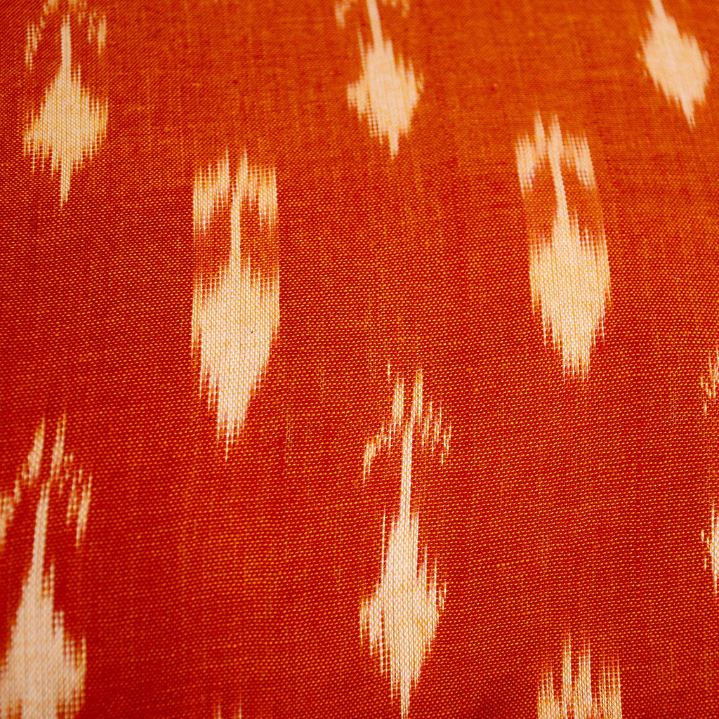 Ikat pillow cover in Rust