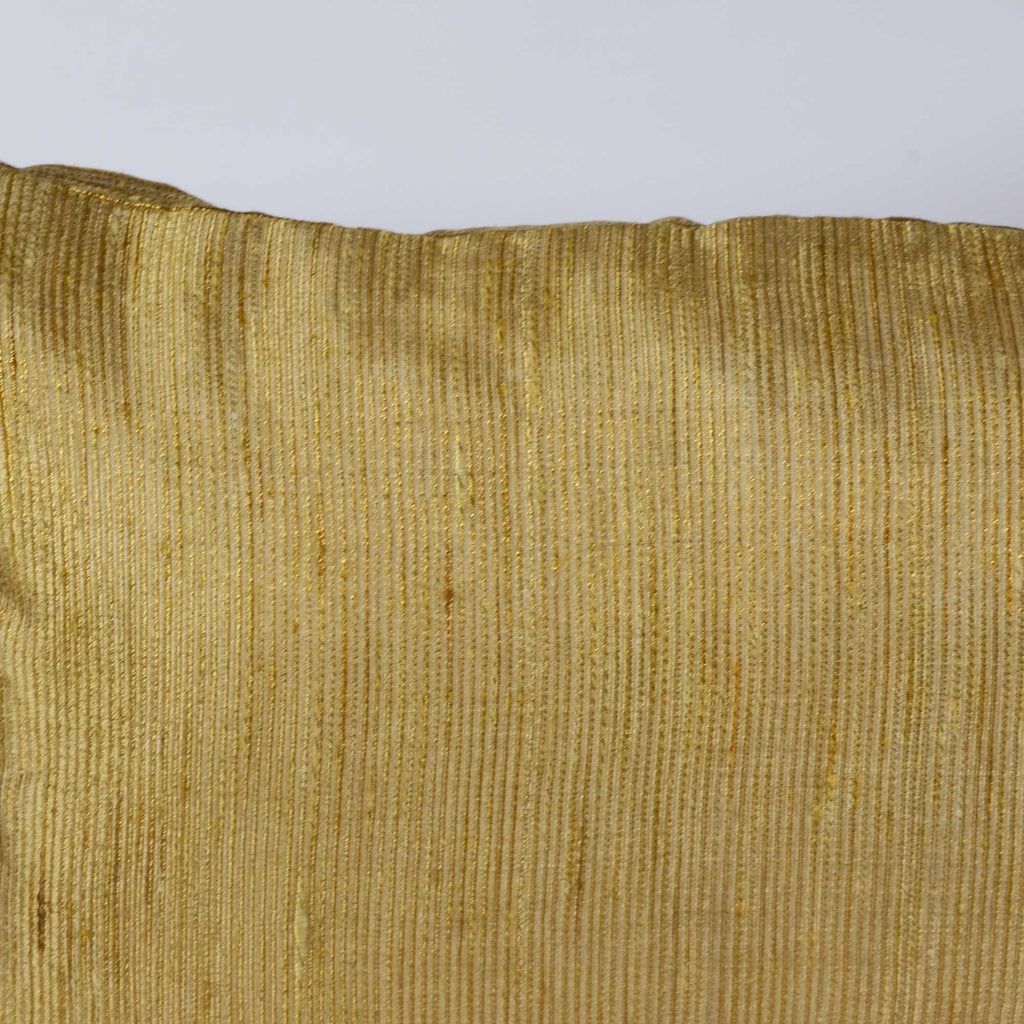handmade Gold Jacquard Silk Horizontal Cushion Cover
